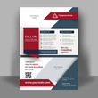 canvas print picture - Creative flyer design. Corporate template layout presentation. Business concept.