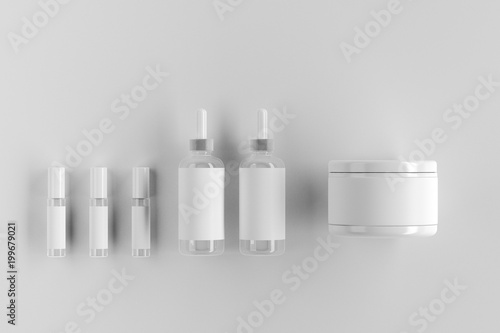 Clean white packaging