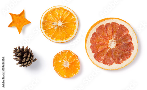 Fototapeta dried fruit isolated on white obraz