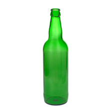 Green Glass Bottle Empty For Beer On White Background