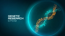 Dna Helix Vector Background. G...