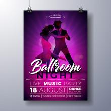Ballroom Night Party Flyer Ill...
