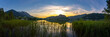 Walchsee Panorama Sonnenuntergang
