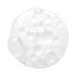 canvas print picture - White facial foam creamy bubble soap sponge isolated on white background
