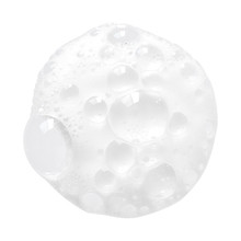 White Facial Foam Creamy Bubble Soap Sponge Isolated On White Background