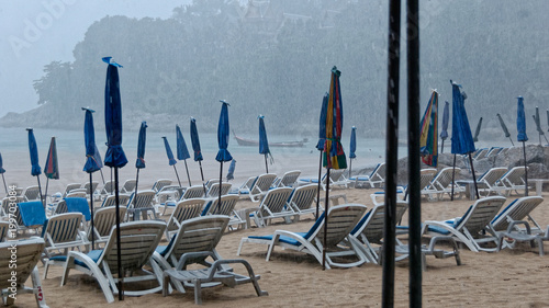 Fotomural Monsone sulla spiaggia