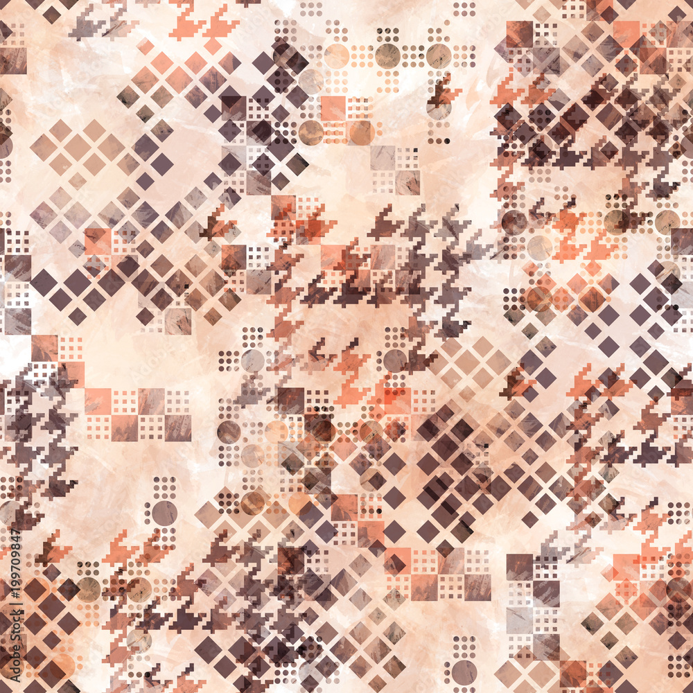 Photo  Abstract seamless pattern houndstooth design