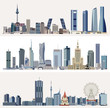 vector urban cityscapes with skyscrapers