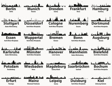 Germany Largest Cities Skyline...
