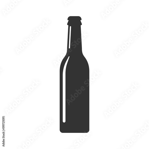 Tela  Beer bottle icon in flat style
