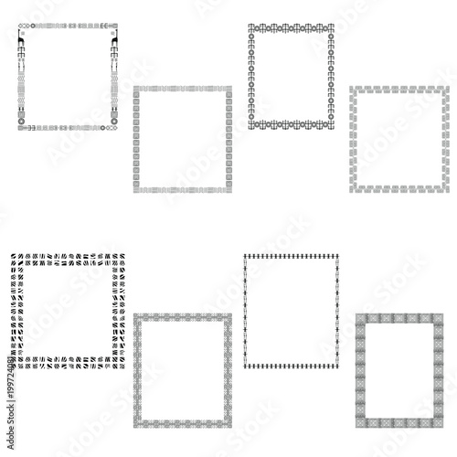 Frame with space for text  A set of frames with traditional