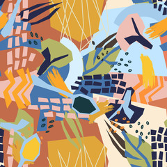 Fototapeta Potrawy i napoje Abstract plant elements paper collage