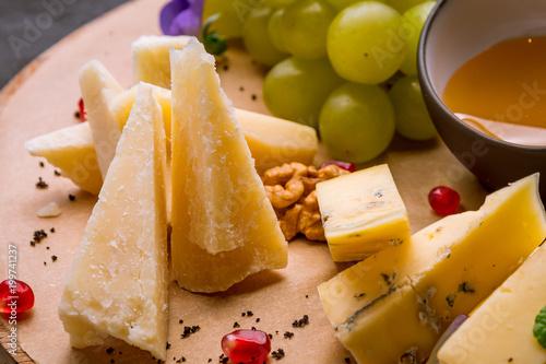 Plakat Serowy półkowy włoski jedzenie