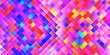 canvas print picture - Happy Seamless Bright Square Background. Colorful Mosaic Grid Lights Texture. Beautiful Modern Geometric Graphic Design.