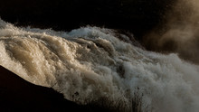 Rushing River Water Close Up Sunrise Rapids