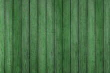 Green Grunge Wood Pattern Texture Background, Wooden Planks.