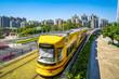 Guangzhou City Light Rail train in China