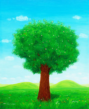 Beautiful Painting Of Tree In ...