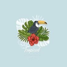Summer Floral Retro Design Tem...