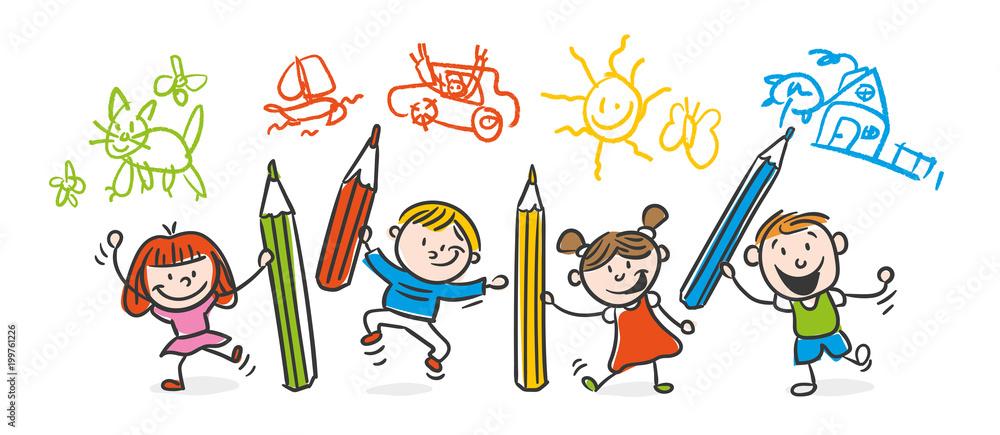 Fototapeta Kids Drawing