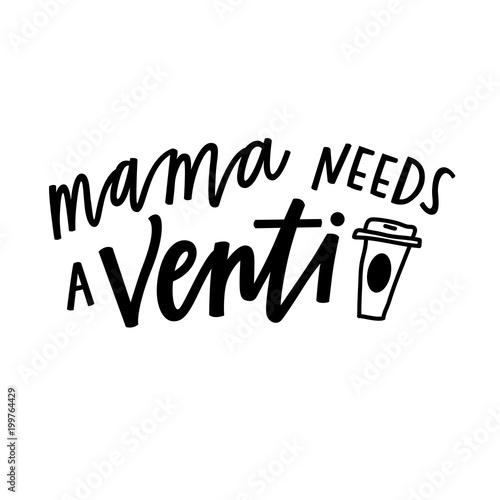 Obraz na plátně Mama needs a venti