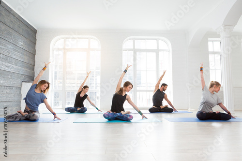 Fototapeta Yoga, fitness, sport and healthy lifestyle concept