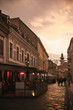 Image of evening streets of Gyor in Hungary