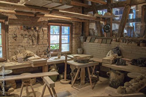 Atelier de potier Canvas Print