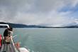 Navigation sue le lago Argentino en Patagonie, Argentine