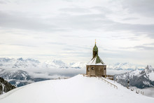 Small Chapel On The Mountain W...