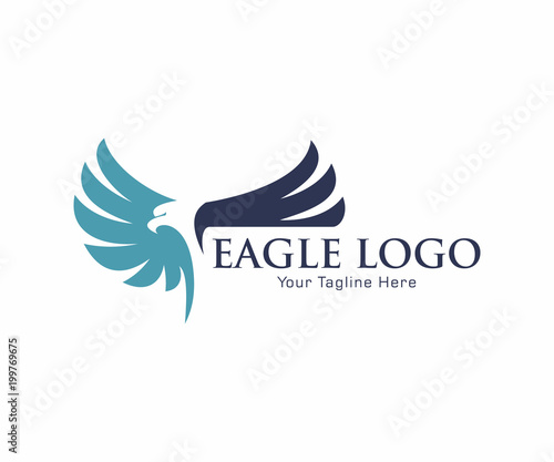 Fotografie, Tablou  Eagle Bird Logo Vector Template. Business Logo Concept