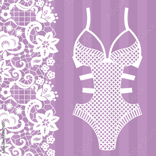 Stampa su Tela Body. Lingerie. Lacy lingerie