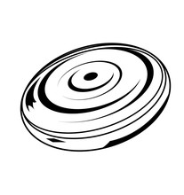 Black Design Of A Frisbee