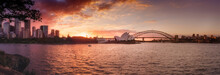 Sydney Harbor Sunset Panorama
