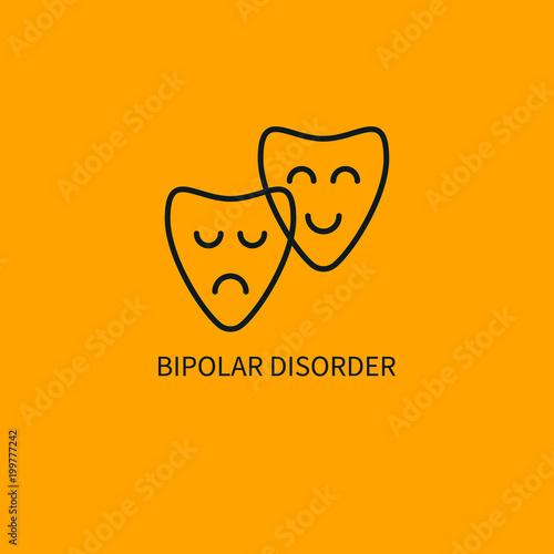 Vászonkép Bipolar disorder icon