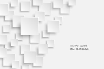 Vector white modern abstract background