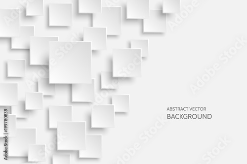 Obraz Vector white modern abstract background - fototapety do salonu