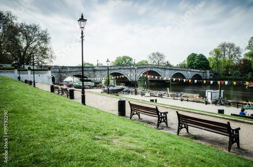 Richmond Waterfront & Richmond Bridge, London Wallpaper Mural