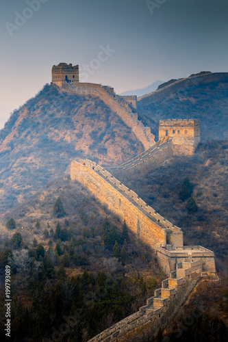 Foto op Canvas Chinese Muur Jinshanling Great Wall of Ming Dynasty in Hebei province, China.