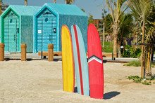 Surfboards And Bathing Cabins ...