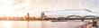 Leinwanddruck Bild - Köln, Rheinufer mit Dom, Groß St. Martin und Hohenzollernbrücke