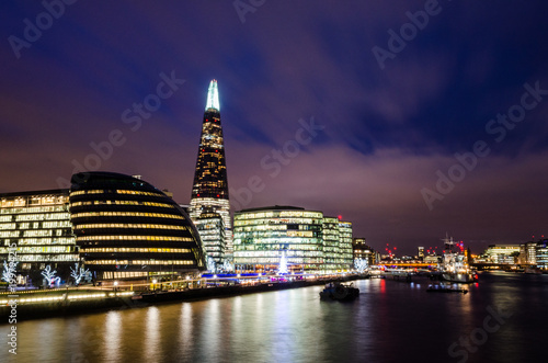 Juliste  Long exposure of the River Thames in London