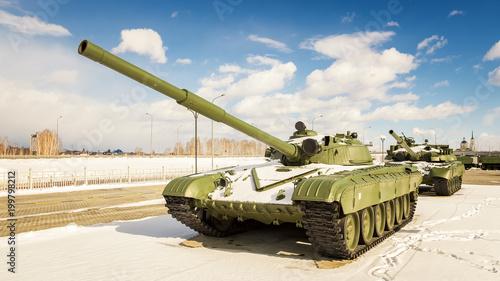 Cuadros en Lienzo боевой советский танк