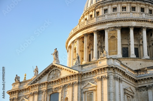 St Paul's Cathedral on the Sunset. London, UK. Wallpaper Mural