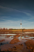 View Of A Radio Mast And Tower...