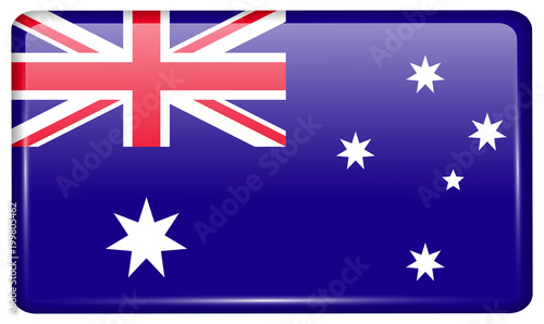 Flags Australia in the form of a magnet on refrigerator with