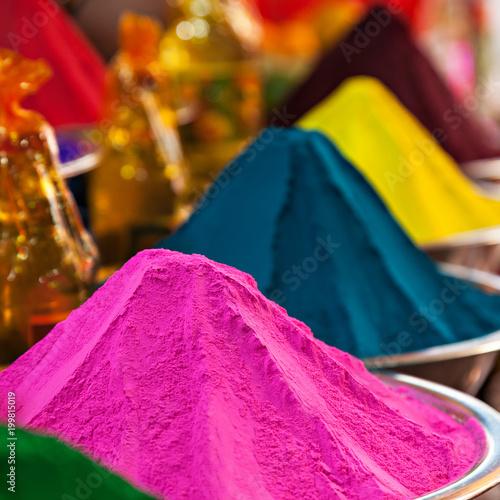 Poster Lieu connus d Asie Color powder