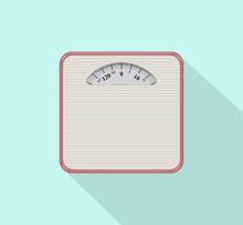 Weight Scale Vector Illustration Icon Flat Design