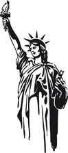 Statue Of Liberty, Retro Vector Illustration