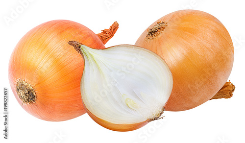 Photographie Fresh onion isolated on white background  with clipping path